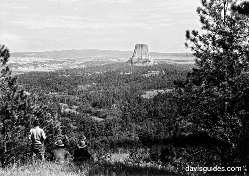 Devils Tower from mesa, Devils Tower National Monument, 1930