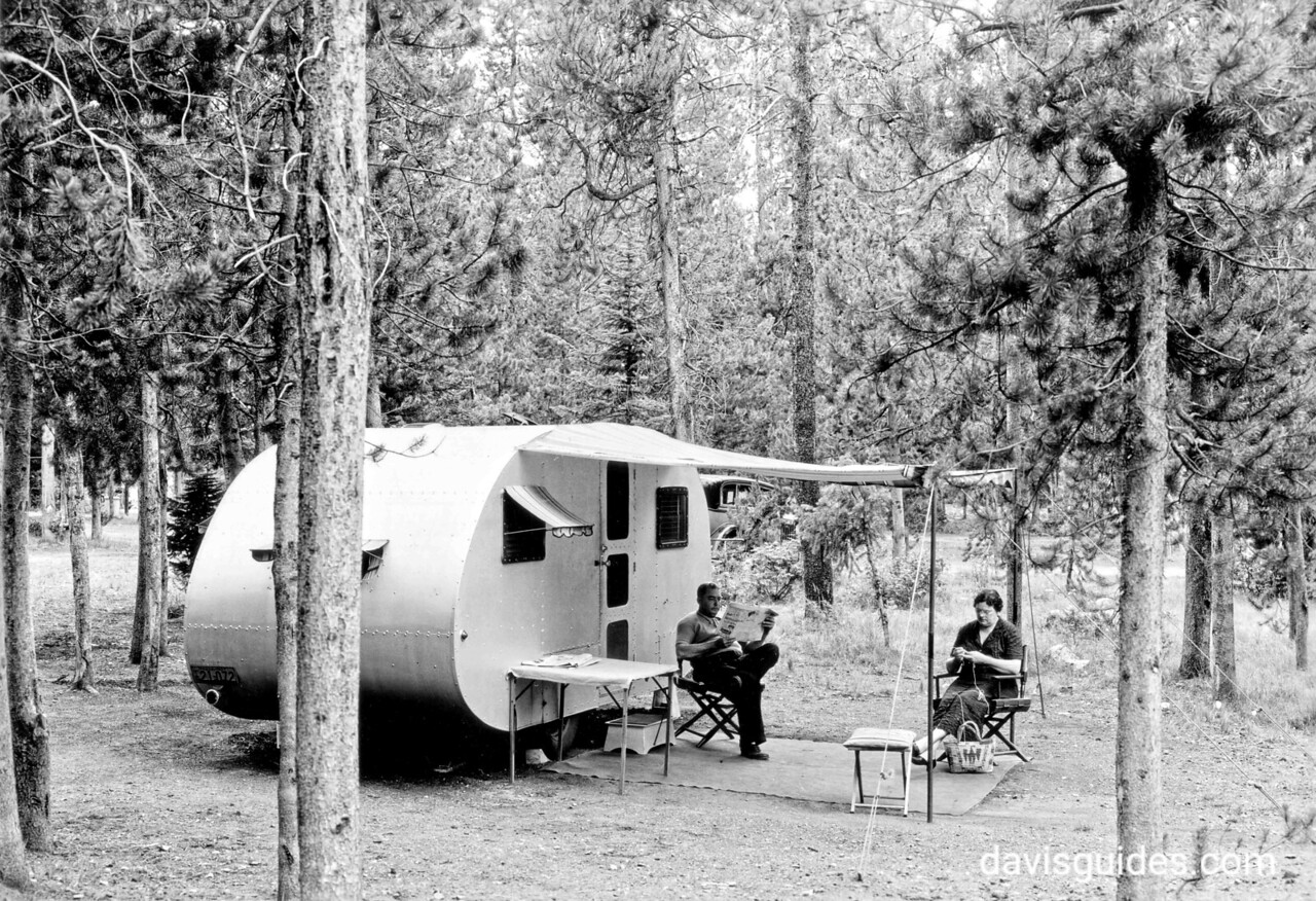 Camping at Jenny Lake Campground, Grand Teton National Park, 1934