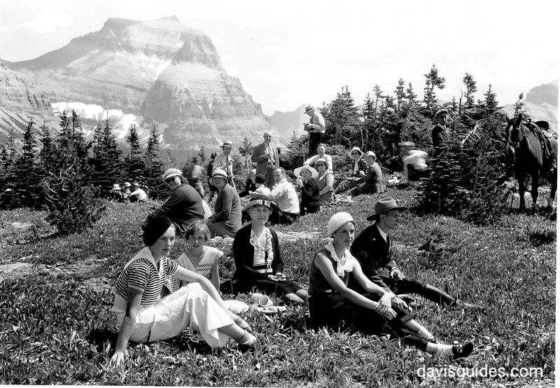 Visitors at the Going-to-the-Sun Road dedication, Glacier National Park, 1933