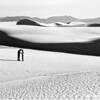 The white sands and the San Andreas Mountains, White Sands National Monument, 1940