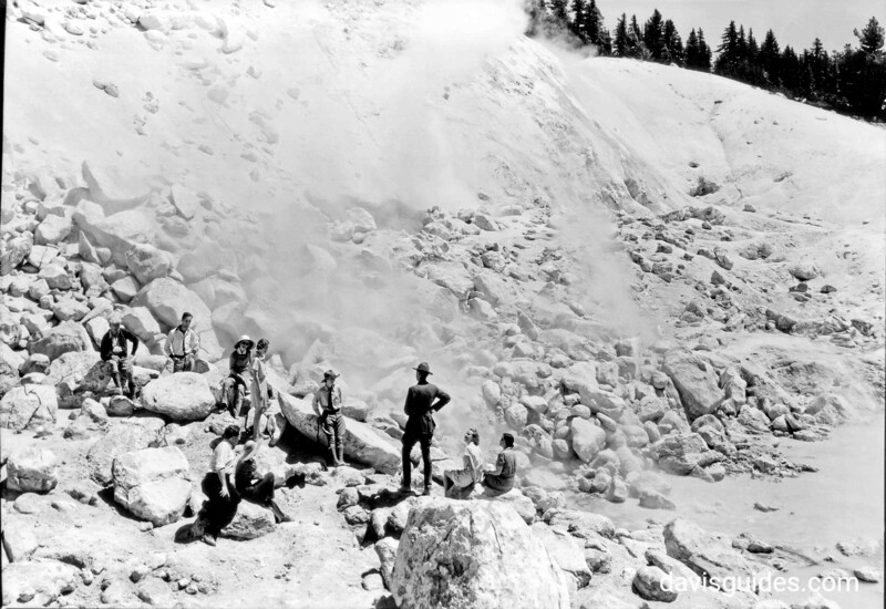 Ranger guided tour at Bumpass Hell, Lassen Volcanic National Park, 1934