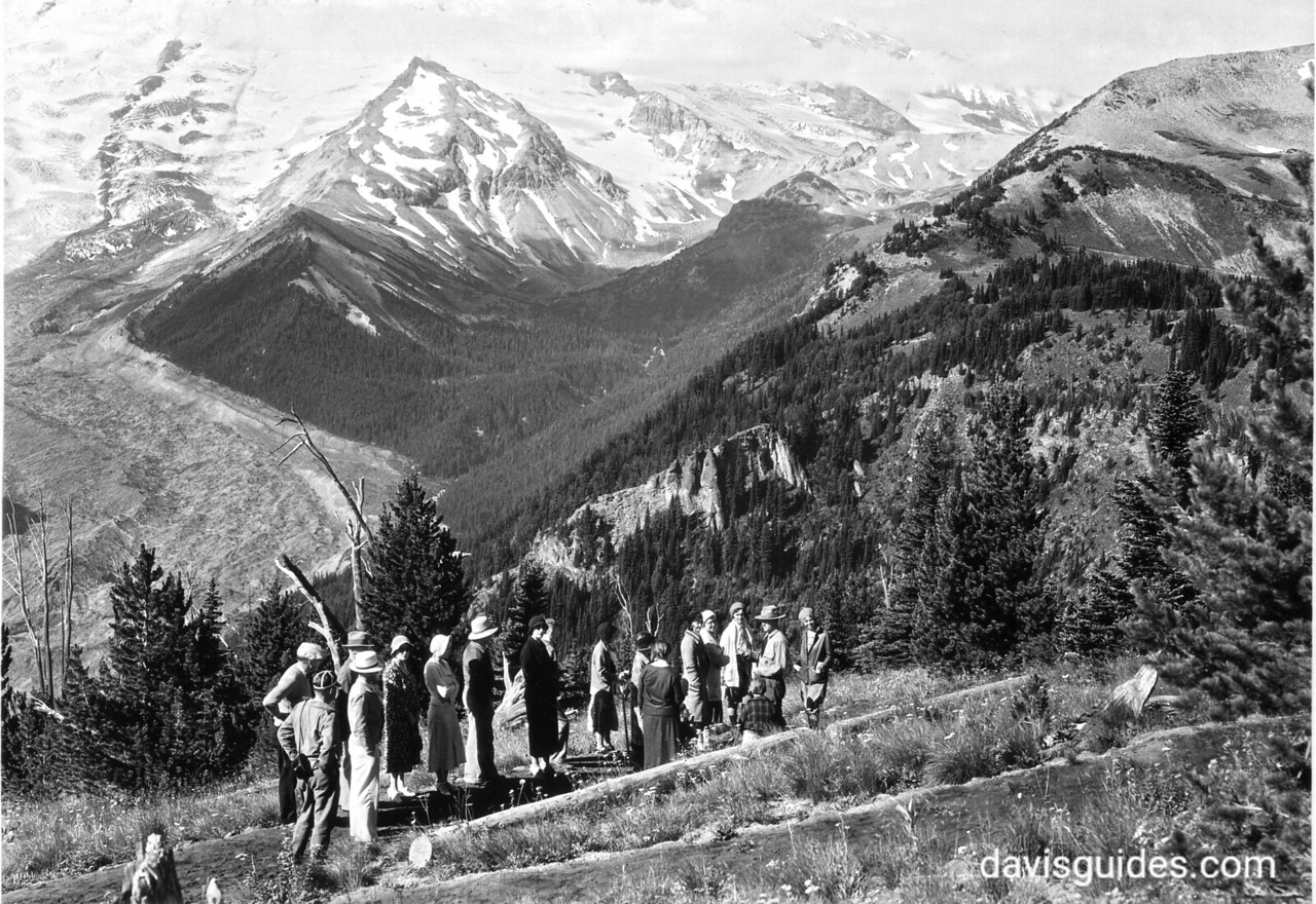 Ranger guided tour near Sunrise, Mount Rainier National Park, 1932