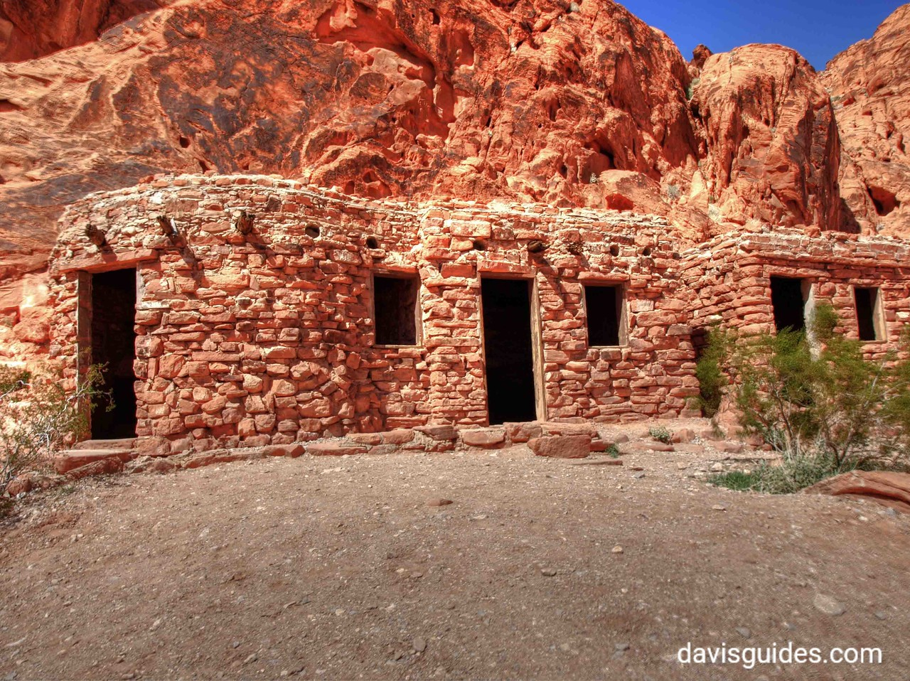 Old stone cabins, Valley of Fire State Park, Nevada