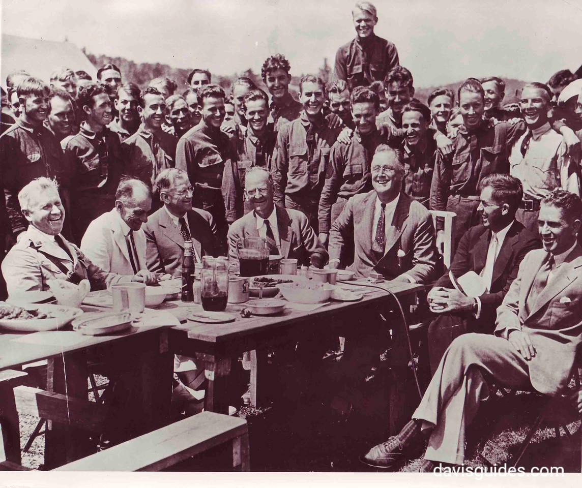 President Roosevelt at CCC picnic, Shenandoah National Park, 1933
