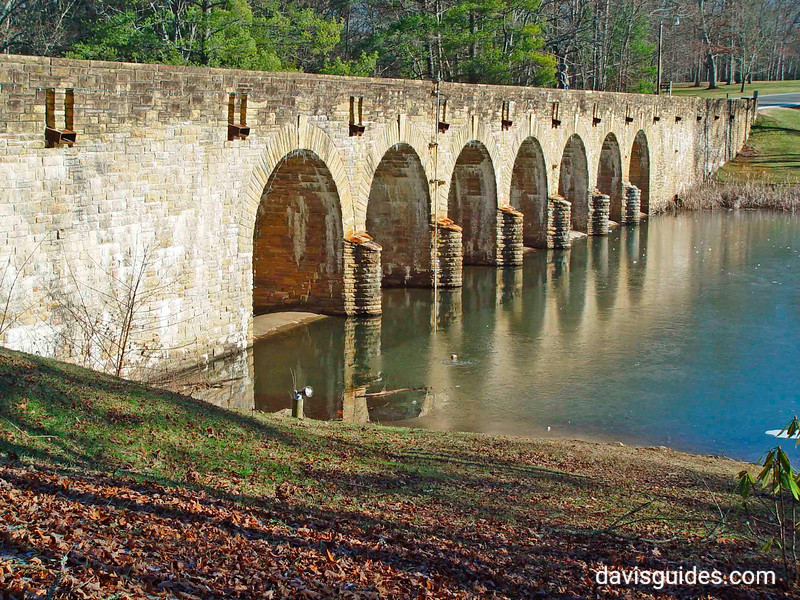 Masonry bridge and dam, Cumberland Mountain State Park, Tennessee