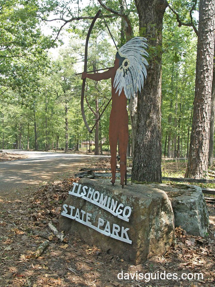 CCC worker's hand-crafted metal sign, Tishomingo State Park, Mississippi