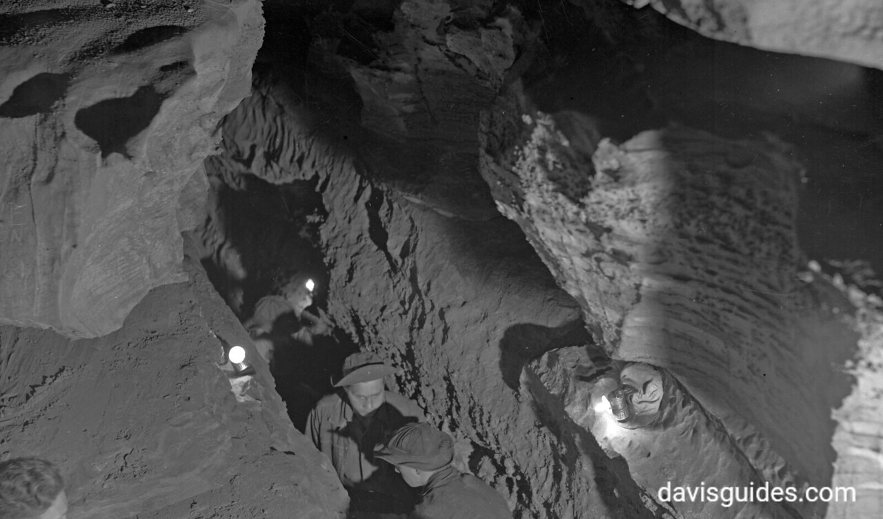 CCC men working in the depths of Mammoth Cave National Park, Kentucky