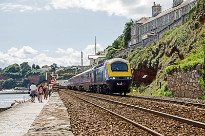 43029 leads 43169 on the 1A88 11:58 Penzance to Paddington at Dawlish