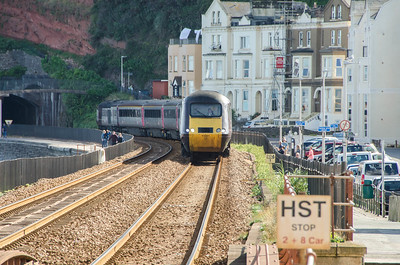 43301 leads 43378 into Dawlish with the 1E67 16:37 Paignton to Leeds