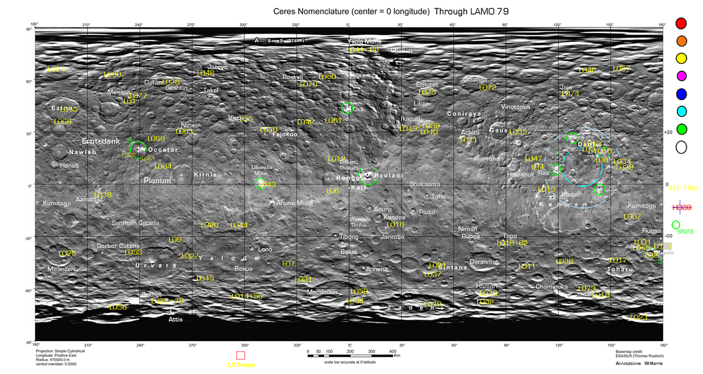 Index Map for Ceres LAMO Public Images