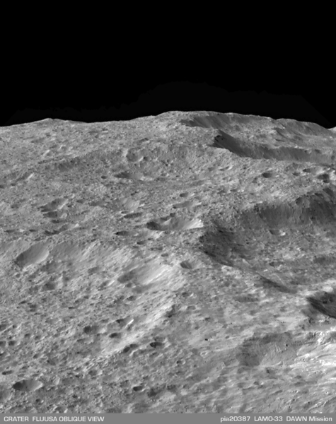 An Oblique View of Fluusa Crater