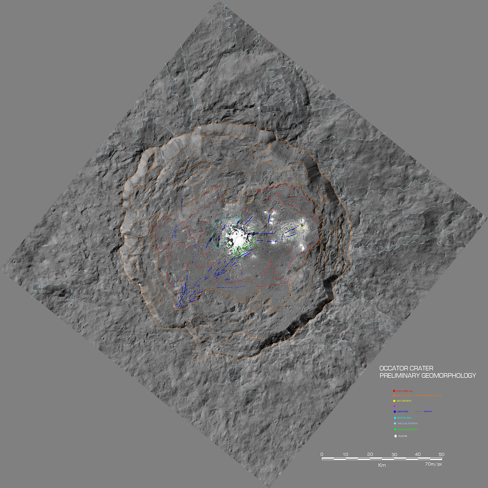 Preliminary Geomorphology of Occator crater