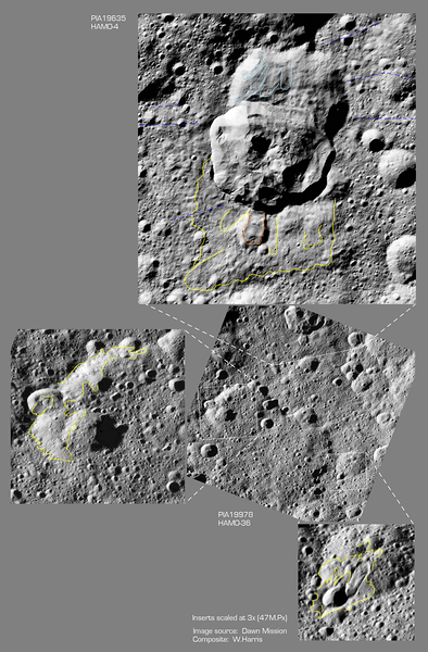 Area of flowages and slumpages near crater Oxo