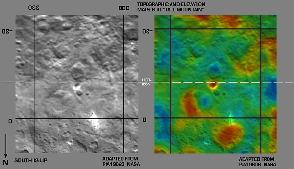 "Relief and Elevation Maps of ""Tall Mountain"" region"