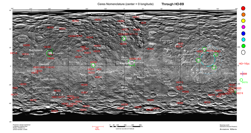 Index Map for Ceres HAMO Public Images