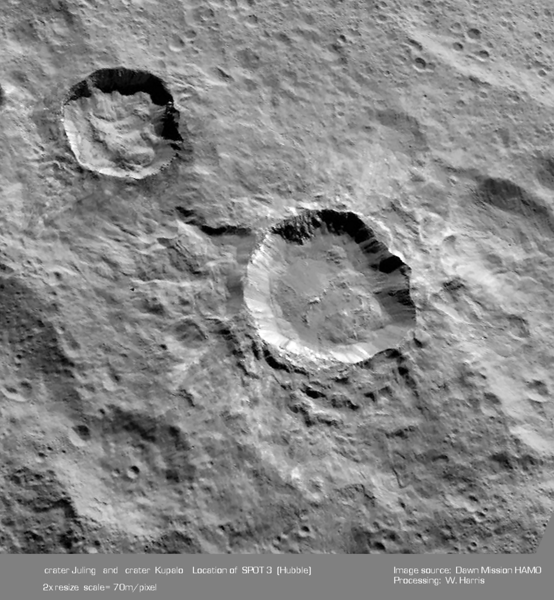 Craters Juling and  Kupalo