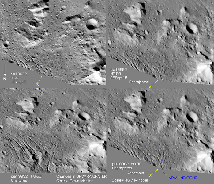 Possible Changes in Urvara Crater