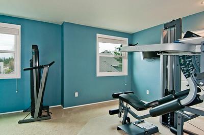 bedroom fitness room