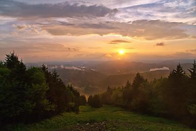 Snowshoe Summit Sunset