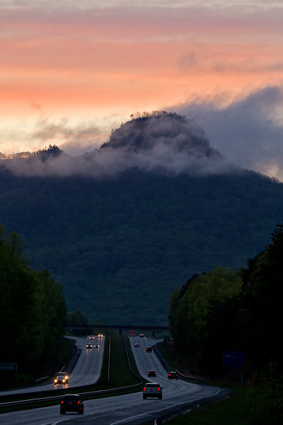 Pilot Mountain Sunset