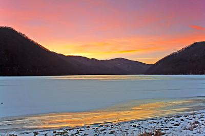 Sunrise at Bluestone Lake