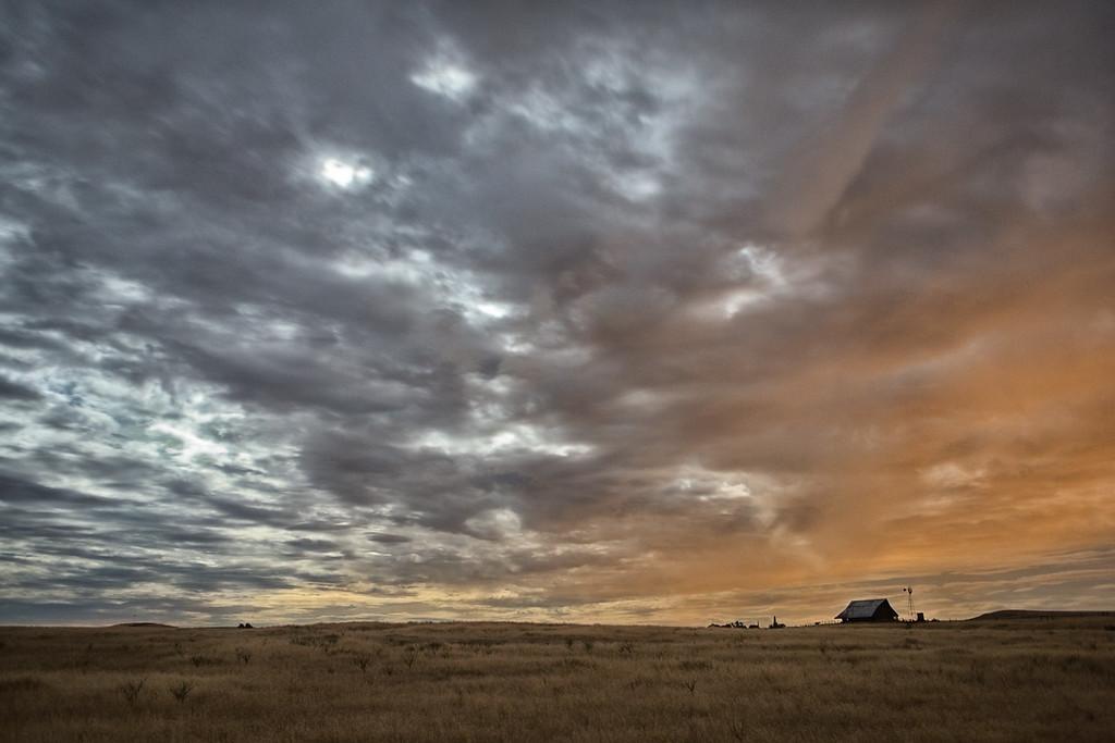 Barn at Midnight by light from Super Moon 2013