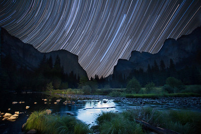 Star Trails over Yosemite Valley at New Moon