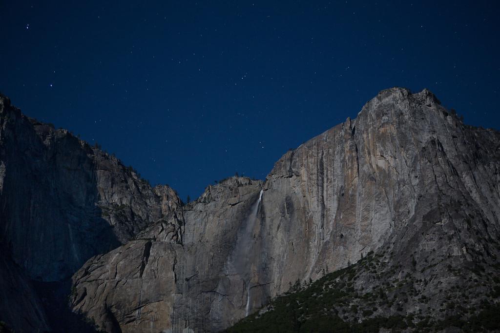 Upper Yosemite Falls Full Moon 2am