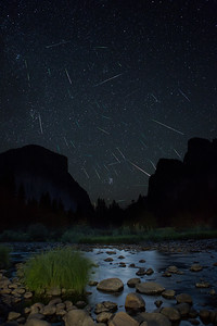 Perseid Meteor Shower Yosemite Valley