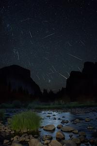 Perseid Meteor Shower Yosemite Valley