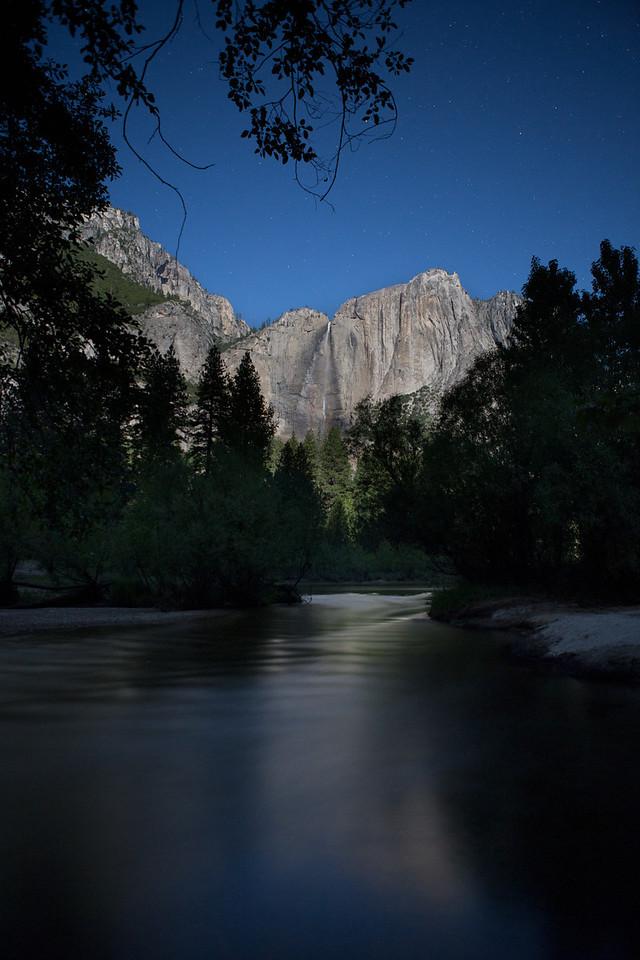 Upper Yosemite Falls Full Moon