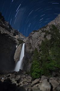 Lower Yosemite Falls & Star Trails
