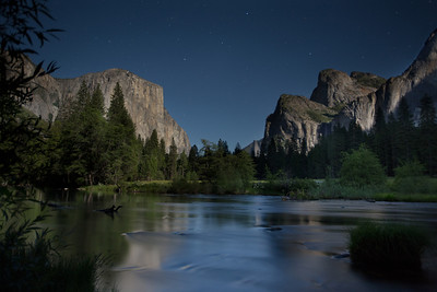 Valley View Full Moon - Yosemite National Park