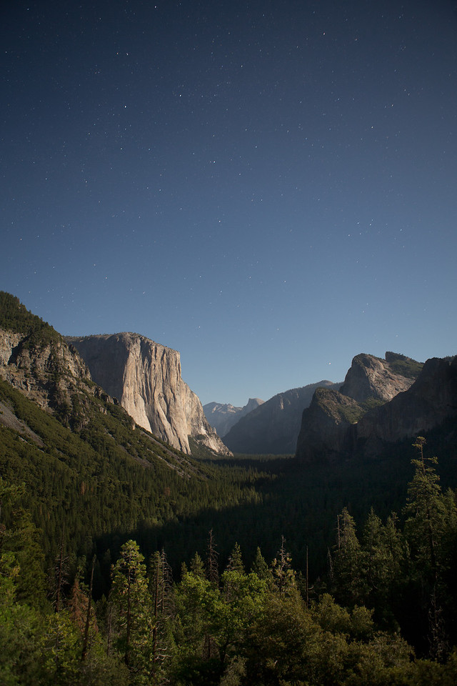 Tunnel View by Full Moon