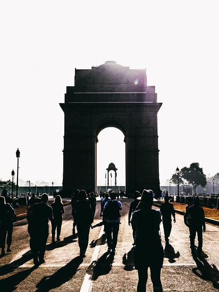 The Sun Rises on India Gate