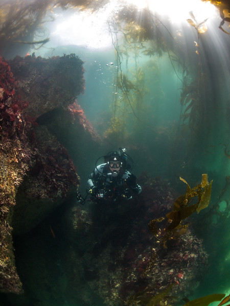 Dive buddy Felipe at Breakwater.