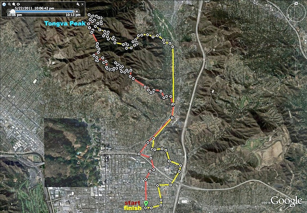 The route I took in this hike.