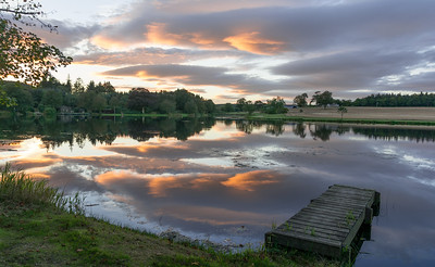 Pitfour Lake Sunset