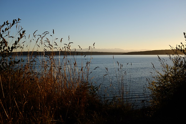 Looking towards Whidbey Island from Camino Island, WA   September 2016