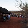 Tourists watching the sunset at Ayers Rock (Uluru)