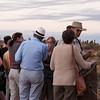 Tourists not watching the sunset at Ayers Rock (Uluru)