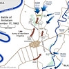 Map of the Antietam Battle - the bloodiest single day of fighting during the Civil War.