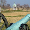 Another glimpse of the Maryland State Monument from the site of the four cannons near the visitor center.