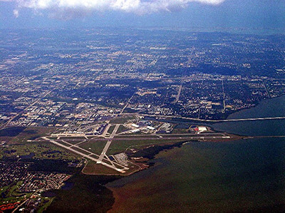Aerial view of the Tampa Airport after our flight to DC takes off.