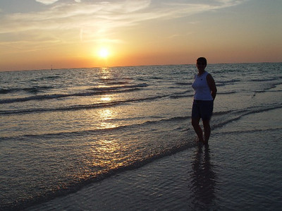 "An ""I was walking on water"" moment at Siesta Key during low tide."