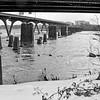 Richmond - Canal Walk<br /> Ruins of a bridge from the Civil War era spans the James River.