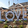 """""""Virginia is for Lovers"""" - at this rest area, visitors are encouraged to take a photograph with the """"Love"""" sign and upload it to Twitter and Facebook."""