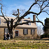 """Another """"we were there"""" photo op at the colonial revival-style Memorial House that was built to represent the mansion at  Wakefield Plantation (Popes Creek Plantation before it was renamed in 1774 by George Washington's nephew, William Augustine)."""