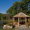 Gazebo and pond at Green Spring Gardens.
