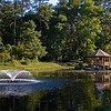 Another view of the pond and gazebo at Green Spring Gardens.